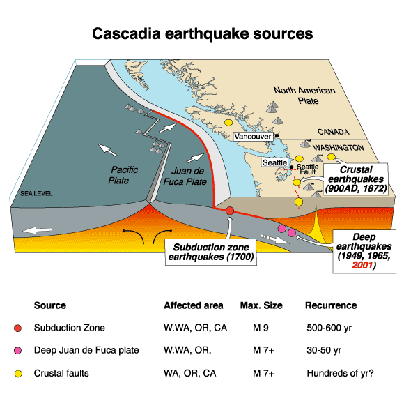The Past and Future Great CascadianEarthquakes